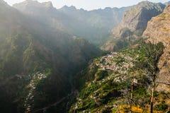 nuns_Madeira的Curral das Freiras_Valley 免版税库存照片