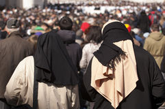 Nuns at Pope Francis mass Stock Photography