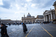 Nuns in St Peters Square in Rome iTaly Royalty Free Stock Photography