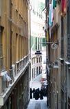 Nuns at the Street of Genoa. Italy Stock Image