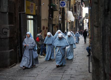Nuns Napoli Royalty Free Stock Images