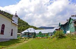 Nuns Suzana house. Nuns houses at Suzana monastery near Bucharest in Prahova region of Romania royalty free stock photos
