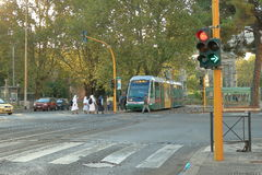 Nuns at the tram stop in the early morning. Rome, Italy Stock Image