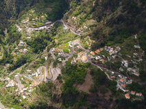 Nuns valley. View of a small town in Nuns Valley, Madeira, Portugal royalty free stock images