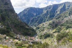 Nuns Valley. Mountains around Nuns valley on the island of Madeira royalty free stock photo