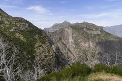 Nuns Valley. Mountains around Nuns valley on the island of Madeira stock images