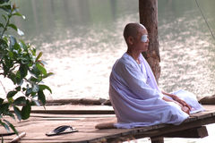 The nuns meditate Stock Photo
