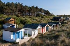 Free NUNSTANTON, NORFOLK/UK - JUNE 2 : Beach Huts At Hunstanton Norfolk On June 2, 2010 Stock Image - 73092361