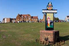 Free NUNSTANTON, NORFOLK/UK - JUNE 2 : Sign For Hunstanton On The Green By The Sea In Hunstanton Norfolk On June 2, 2010. Unidentified Stock Photo - 73097650