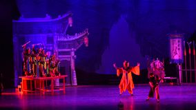 nuo dance-Acrobatic showBaixi Dream Night stock video footage