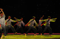 The Nuo-The exorcism dance. In December 27, 2014, the Department of dance of the students are for the annual graduation performance report in the jiangxi art Royalty Free Stock Image
