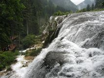 NuoRiLang waterfall-Jiuzhaigou-World Natural Heritage. Jiuzhaigou: the world natural heritage, the national key scenic spots, the national AAAAA level tourist stock photos