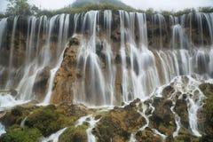 Nuorilangwatervallen in Jiuzhaigou, China, Azië Royalty-vrije Stock Fotografie