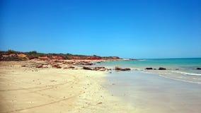 Nuotando alla spiaggia del punto di Gantheaume Immagine Stock Libera da Diritti