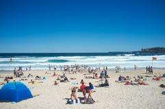Nuotando fra le bandiere del bagnino, spiaggia di Bondi, Sydney, Australia Fotografia Stock Libera da Diritti