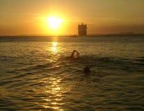 Nuotando nel cielo Fotografia Stock Libera da Diritti
