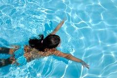 Nuotando nello stagno Fotografia Stock