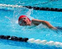 Nuotata di stile libero Immagini Stock Libere da Diritti