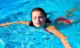 Nuotata femminile Fotografia Stock Libera da Diritti