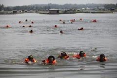 Nuotata preparata Fotografia Stock