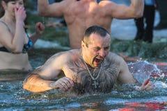 Nuotate dell'uomo Immagine Stock