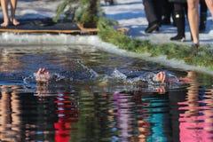 Nuotate dell'uomo Immagini Stock Libere da Diritti