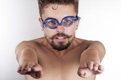 Nuotatore all'inizio Immagine Stock