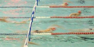 Nuotatore astratto Blur Fotografia Stock