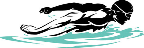 Nuotatore Butterfly Stroke Immagine Stock Libera da Diritti