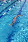 Nuotatore competitivo Immagini Stock