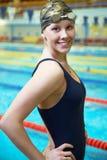 Nuotatore competitivo professionista Fotografie Stock Libere da Diritti