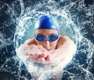Nuotatore della donna Fotografia Stock