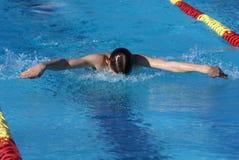 Nuotatore della farfalla Fotografie Stock Libere da Diritti