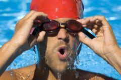 Nuotatore maschio Immagini Stock Libere da Diritti