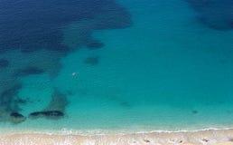 Nuotatore nel Mediterraneo Fotografia Stock