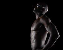 Nuotatore professionista che prepara per la concorrenza Fotografie Stock Libere da Diritti