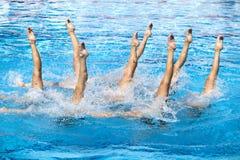 Nuotatori sincronizzati Fotografie Stock