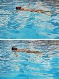 Nuoto al sole Fotografia Stock Libera da Diritti