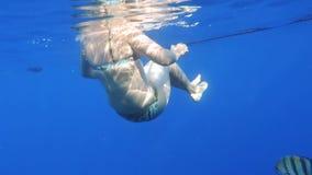 Nuoto della donna Fotografie Stock