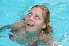 Nuoto della donna Fotografia Stock Libera da Diritti