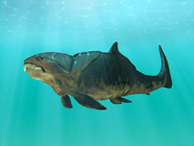 Nuoto di Dunkleosteus Immagine Stock