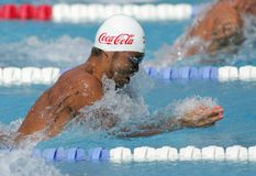 Nuoto di Kosuke Kitajima fotografia stock libera da diritti