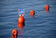 Nuoto proibito Immagini Stock