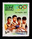 Nuoto, serie dei giochi olimpici, circa 1983 Fotografie Stock Libere da Diritti