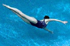 Nuoto sincronizzato Immagine Stock Libera da Diritti