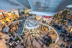Nuova ala del centro commerciale di Chadstone, il più grande centro commerciale in Australia Fotografie Stock
