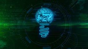 Nuova animazione di concetto di idea con la lampadina illustrazione vettoriale