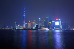 Nuova area di Shanghai Pudong Fotografie Stock Libere da Diritti