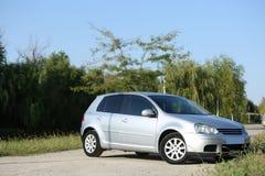 Nuova automobile da vendere Fotografia Stock