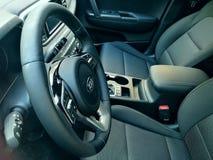 Nuova automobile interna di Kia Sportage fotografie stock libere da diritti